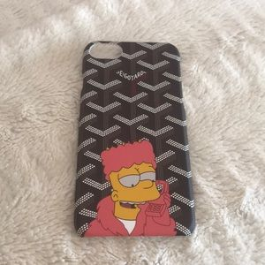 Goyard iphone 7 case with Simpsons